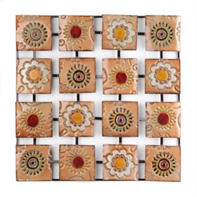 Floral Panels Metal Wall Art