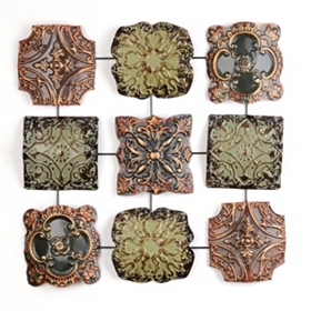 Floral Panels II Metal Wall Art