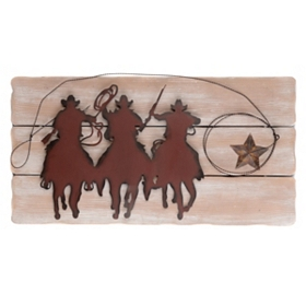 Countryline Metal & Wood Wall Plaque