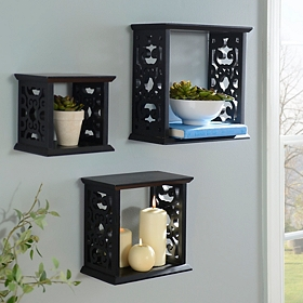 Scrolled Cube Shelf, Set of 3