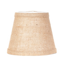 Natural Burlap Chandelier Shade