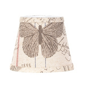 Antique Butterfly Print Chandelier Shade