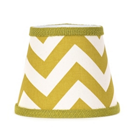 Green Chevron Chandelier Shade