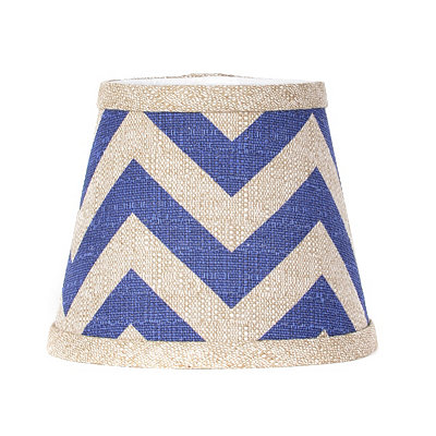 Navy Chevron Chandelier Shade