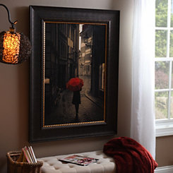Red Rain Framed Art Print