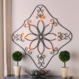 Diamond Scroll Tealight Holder