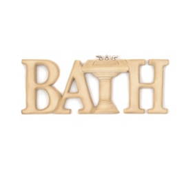 Bath Resin Wall Plaque