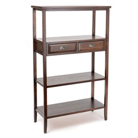 Carson 3-Shelf Bookcase with Drawers