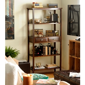 Carson 4-Shelf Bookcase with Drawers