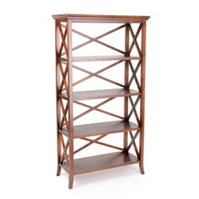 Simon 4-Shelf Crossback Bookcase