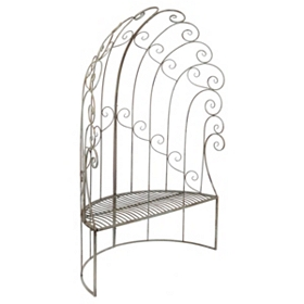 High Back Demilune Patio Bench