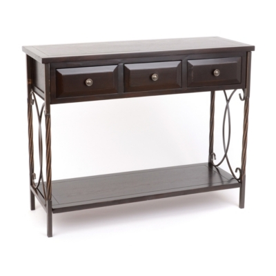 Espresso Scrolled Console Table
