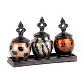 Safari Sparkle Jar, Set of 3