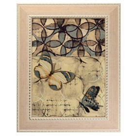 Cohen Abstract Butterfly Framed Art Print