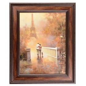 City Stroll Through the Park Framed Art Print