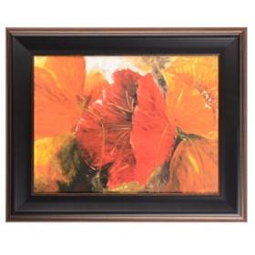 Herrera Drama Floral Framed Art Print
