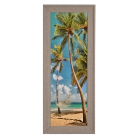 Windswept Palms Framed Art Print