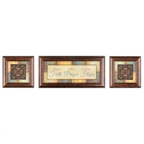 Faith, Prayer & Hope Shadowbox, Set of 3