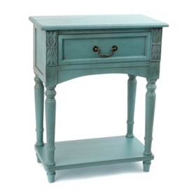 Bailey Blue Accent Table