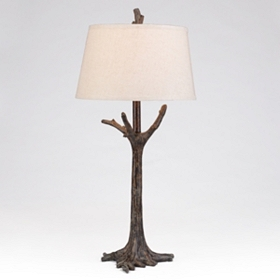 Bronze Tree Table Lamp