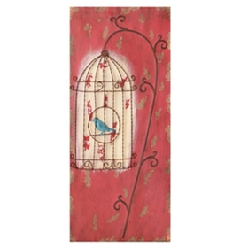 Sadie Bird & Bird Cage Wall Plaque