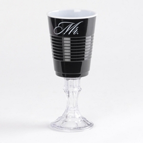 Black Mr. Party Cup Wine Glass