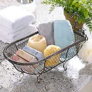 Metal Bathtub Basket