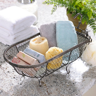 Metal Bathtub Basket | Kirklands
