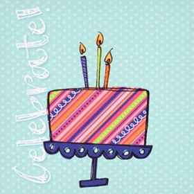 Signable Celebrate Cake Canvas Plaque