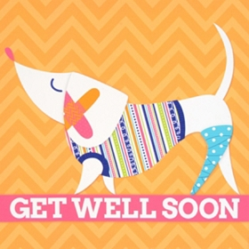 Signable Get Well Soon Canvas Plaque