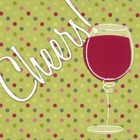 Signable Cheers Wine Canvas Plaque