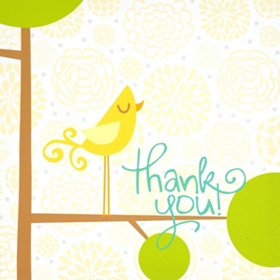 Signable Thank You Bird Canvas Plaque