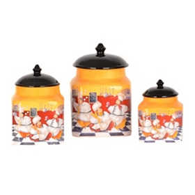 Ceramic Chef Canister, Set of 3
