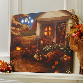 Autumn Evening LED Canvas Art Print
