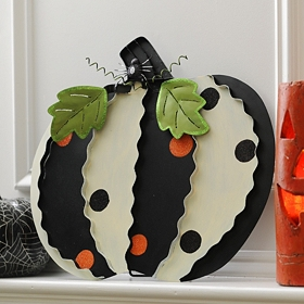 Polka Dotted Pumpkin Easel, 16 in.