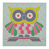 Pastel Owl Canvas Art Print