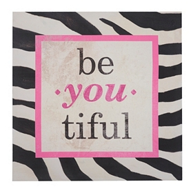Be You Zebra Print Canvas Art Prints