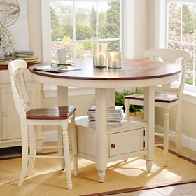 British Isle Ivory Round Gathering Table