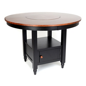 British Isle Black Round Gathering Table