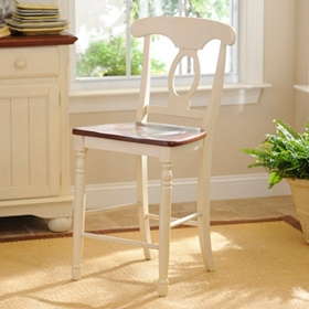 British Isle Ivory Counter Stool, Set of 2