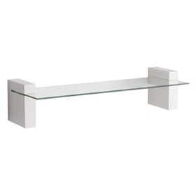 Cooperstown White Wall Shelf, 24 in.
