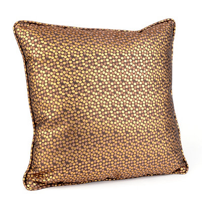 Confetti Metallic Cocoa Pillow
