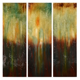 Streaked Abstract Wall Art, Set of 3