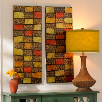 Stepping Stones Metal Wall Panel, Set of 2