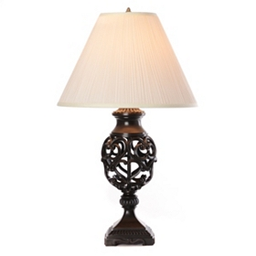 Open Heart Scroll Table Lamp