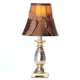 Aged Brass Table Lamp with Bow