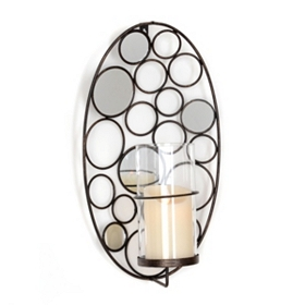 Cosmic Circles Mirrored Sconce