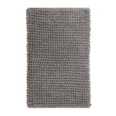 Gray Plush Bubble Bath Mat