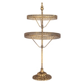 Gold 2-Tier Jewelry Holder