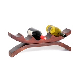 Wood 6-Bottle Tabletop Wine Holder